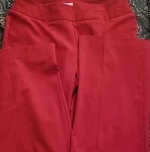 Side Zip: Beautiful Red Business Slacks/Trousers